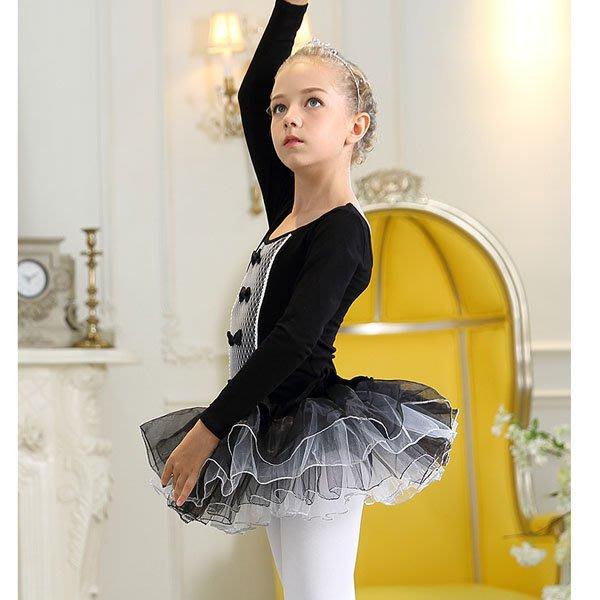 5Cgo【鴿樓】會員有優惠 40536173700 兒童芭蕾舞衣長袖女童表演秋冬芭蕾舞裙演出服幼兒紗裙練功服裝