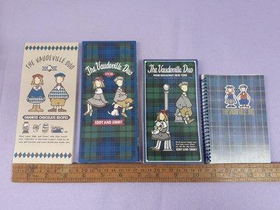 1994年 The Vaudeville Duo 狗男女 Eddy & Emmy 文具 簿仔4本 Made in Japan