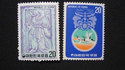 【大三元】韓國郵票- H105 蛇年   -1976年-新票2全1套~原膠