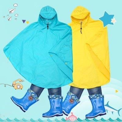 兒童雨衣斗篷式學生雨衣帶書包位男女中大童自行車電動車後座披風