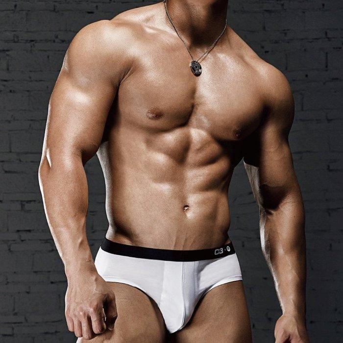 【OTOKO Men's Boutique】MOEA墨立方:透氣運動三角內褲/白色(台灣獨家代理)