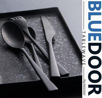 BlueD_餐具 黑色做舊 不鏽鋼 鍛造 西餐刀 西餐叉 西餐湯匙 西餐勺 牛排刀 刀叉 咖啡匙 質感 北歐設計 網美風