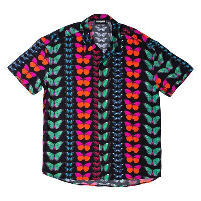 Pleasures Butterfly Short Sleeve Button Down滿版蝴蝶襯衫 黑【BoXhit】