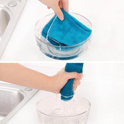 洗碗巾 不沾油掉毛抹布韓國廚房吸水擦桌擦碗洗碗布百潔布擦手清潔巾