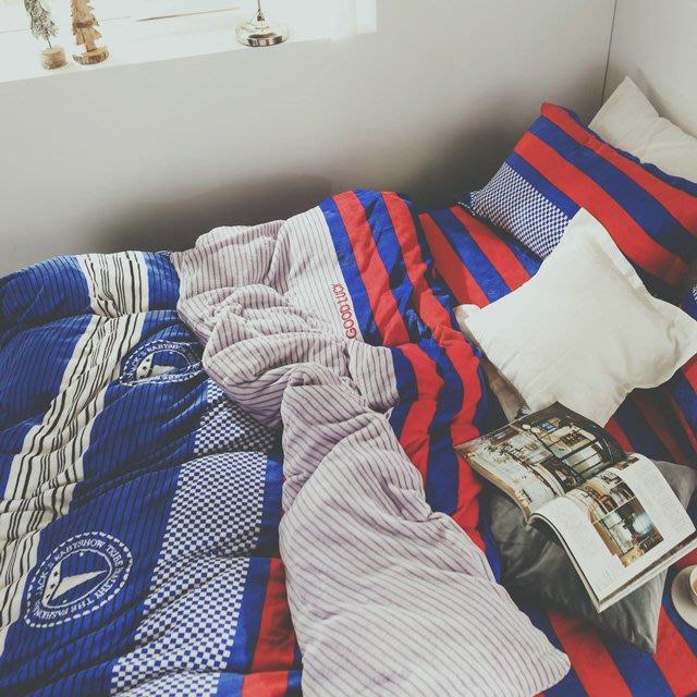 法蘭絨 5尺/標準雙人鋪棉床包被套組【帆船】絲薇諾