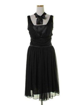 日本貴婦品牌 GRACE CONTINENTAL 黑色洋裝/小禮服 36