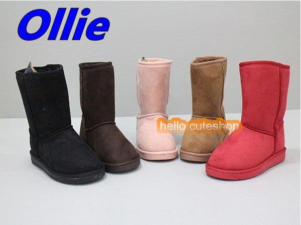 『※妳好,可愛※』 韓國雪靴~正韓國製~Ollie中筒靴 親子雪靴 雪地靴 貓掌 貓爪 布標 仿麂皮