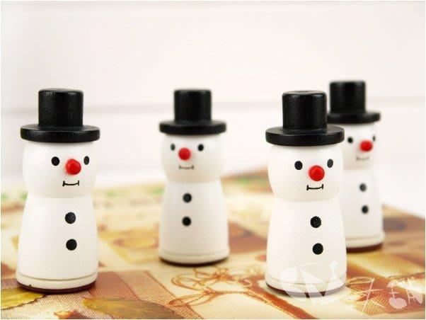 雪人造型雪花印章/4款選@木頭印章聖誕裝飾佈置手作必備X'mas