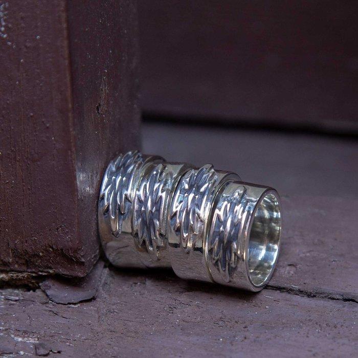 牛仔偵探 新貨到 ! 日本松井 DearBlossom 立體浮雕銀戒指 古印地安圖騰
