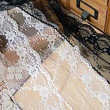 『ღIAsa 愛莎ღ手作雜貨』(90cm)花邊輔料/娃衣輔料台產黑色奶白小花蕾絲花邊寬9cm