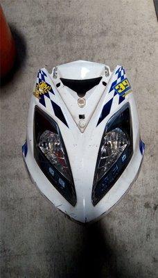 達成拍賣 戰將 Fighter 150 大燈 前燈組  前面板 H殼 三相整流器 LED方向燈 車殼