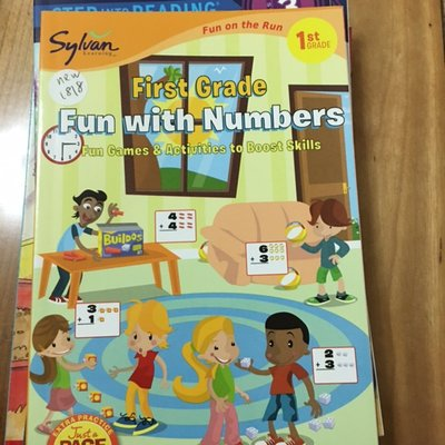 全新英文童書 sylvan first grade fun with numbers 1st grade new1818