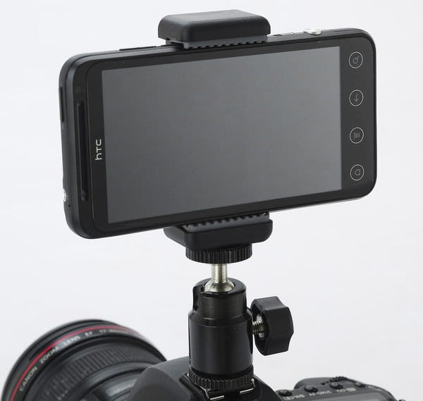 呈現攝影-MATIN 手機夾座+小雲台熱靴座(鐵) 手機架組 可夾5吋以內 錄影間隔攝影  iphone Note