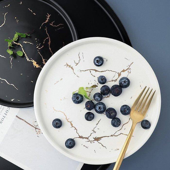 MAJPOINT*牛排餐盤子 碟 陶瓷 潑墨大理石紋 北歐 輕奢華 攝影美器 西餐盤 野餐派對 甜點廚房餐具 托盤烘焙
