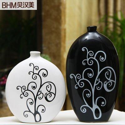 【優上精品】家居飾品陶瓷工藝擺件新房裝飾花瓶現代簡約花器花瓶默然花瓶(Z-P3274)