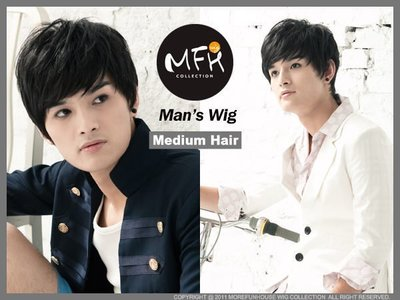 MFH韓國男生假髮~微彎髮束假髮【M0...