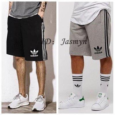 Adidas 經典三條紋 運動短褲 休...