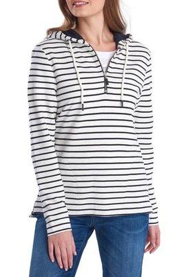 Barbour Seaboard Stripe Drawstring Zip Pullover