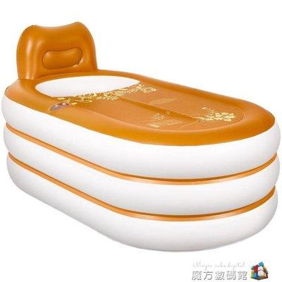 蜀麗康充氣浴缸家用摺疊 便攜獨立塑料泡澡桶大人用小戶型洗澡盆 魔方 新北市