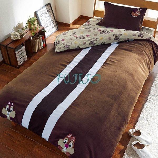 ~FUJIJO~預購~日本DINSEY迪士尼再發售【奇奇蒂蒂】雙面圖案 超暖和2用被套雙人4件式床包組床組