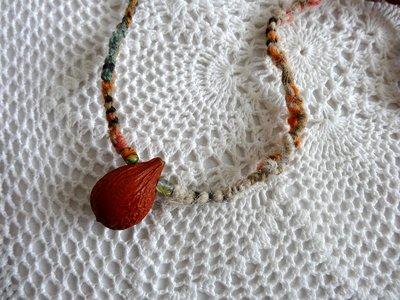 公平貿易FairTrade商店繭裹子TWINE 天然植物種子手工編織 項鍊