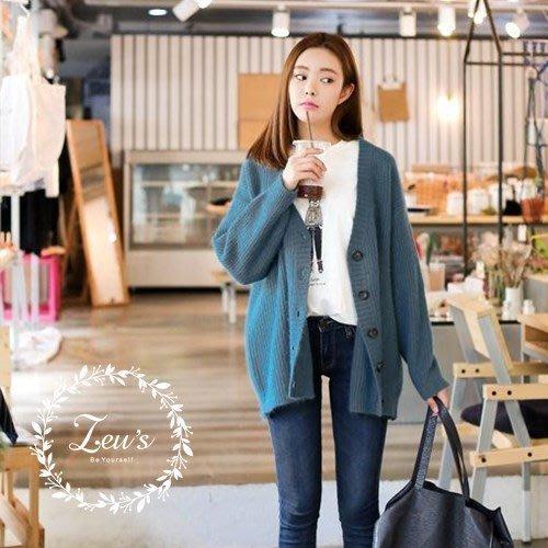 【ZEU'S】韓國秋裝新款休閒百搭針織外套『 09017506 』【現+預】I