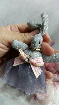 材料王批發-乾花鑰匙圈//-韓風小兔--有現貨