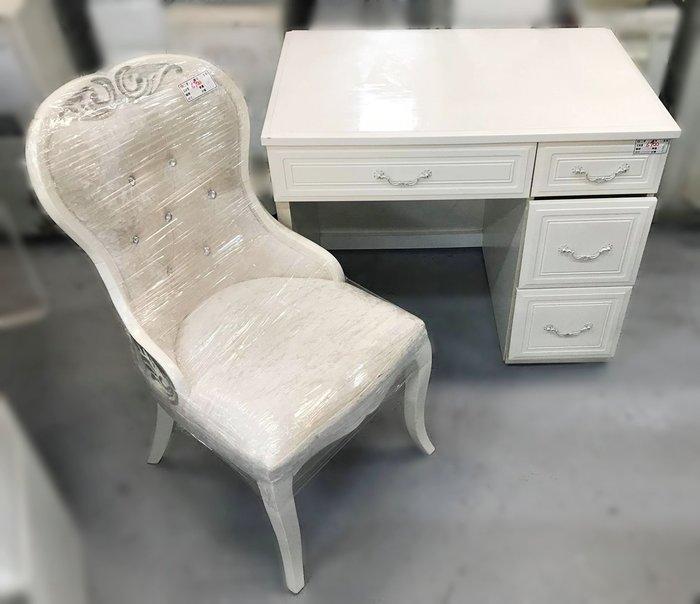 【宏品二手家具館】 2手家具賣場 E32001*白色4抽書桌含椅*中古臥室家具拍賣 床組 床墊 床架 床板 床箱 床頭櫃