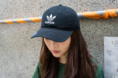 【A-KAY0 5折】ADIDAS 男女 RELAXED STRAPBACK 老帽 黑白【BH7137】