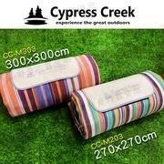 露營小站~【CC-M203】賽普勒斯Cypress Creek 270*270-彩虹條紋 野餐墊 防潮地墊 沙灘墊 防潮