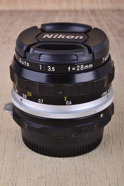 【台中品光攝影】NIKON 改AI 28mm F3.5 NIKKOR-H (28/3.5) 定焦 手動 #37810J