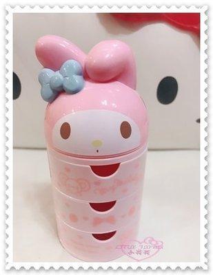 ♥小花花 ♥《Melody》美樂蒂 三層桌上型置物筒 收納筒 粉色 愛心 小熊 蘋果 點點 12037209