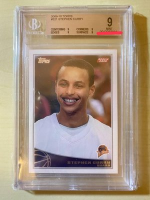 Stephen Curry Rc 2009-10 Topps#321 鑑定BGS 9