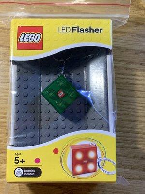 LEGO LED Flasher 2*2 方塊鑰匙圈 ~ 綠色