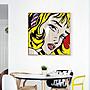 ART。DECO  波普女孩 掛畫 無框沙發客廳現代...