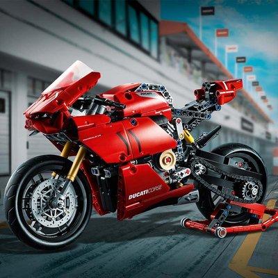 新風小鋪-LEGO樂高42107 杜卡迪V4R摩托車川崎 科技系列機械組拼插積木模型