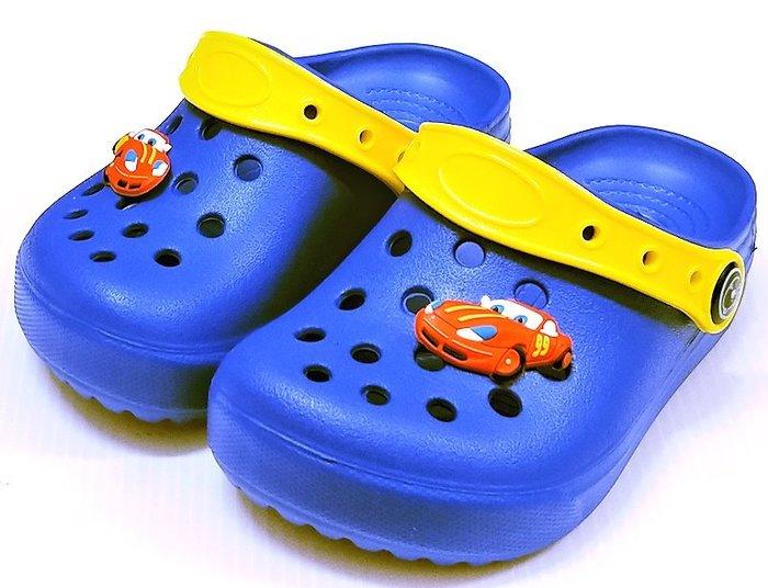 【菲瑪】TOWBOSS 閃電麥坤 花園鞋 Q彈超輕無毒止滑 藍112C
