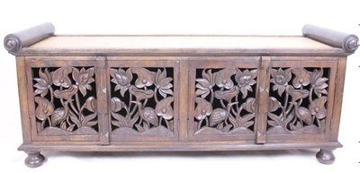 INPHIC-東南亞 家居 飾品 泰式飯店 會所 木雕 小傢俱 櫃子 電視櫃 蓮花