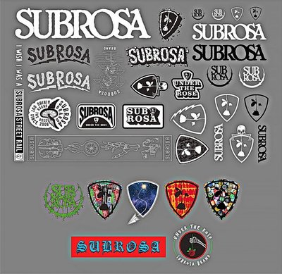 [I.H BMX] SUBROSA STICKER PACK 防水貼紙組  獨輪車FixedGear特技腳踏車場地車越野車表演車特技車土坡車自行車下坡車