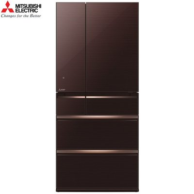 MITSUBISHI 三菱 《MR-WX71C-BR-C》 705公升 日本原裝 變頻六門電冰箱-水晶棕