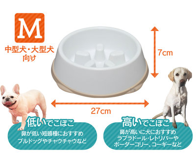 【HT】日本IRIS《防滑慢食碗》M號 防滑大底,有效防止寵物噎到