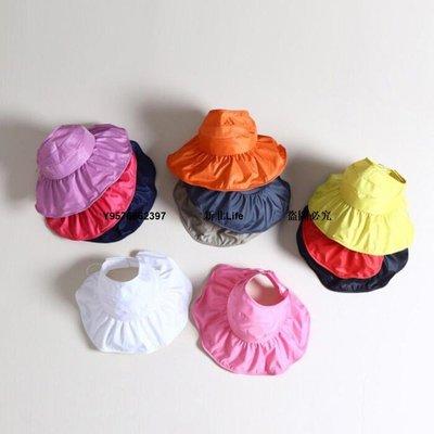 【新品】SEND韓國春夏兒童防曬遮陽帽 可折疊空頂防曬 高爾夫球帽兒童帽子