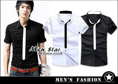 【Men Star】免運費 韓版假領帶...