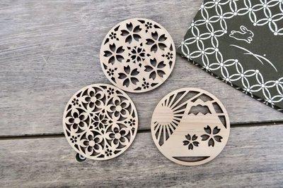 日本檜木製作的杯墊 日本製 禮物