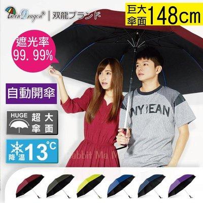 超大58吋 降溫抗UV防風 超大傘面 雨傘 /晴雨兩用陽傘/雙龍牌 親子傘/情侶傘/大王傘  兔子媽媽