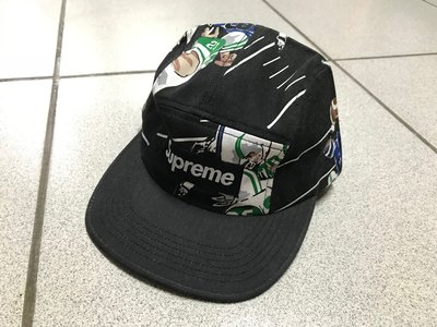 【全新現貨】SUPREME CAMP CAP 棒球帽 五分割帽 黑色 橄欖球