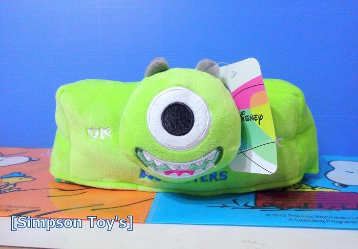 【辛普森娃娃屋】迪士尼卡通 怪獸電力公司 怪獸大學 單眼怪 面紙套