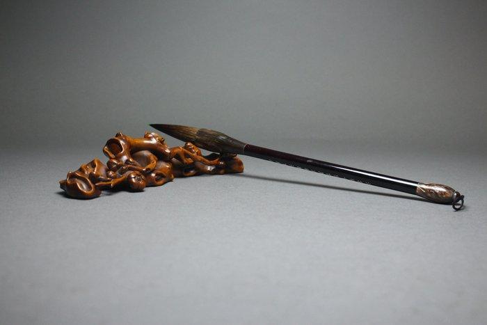 悅年堂 --- 黃楊木 梅樁 筆架