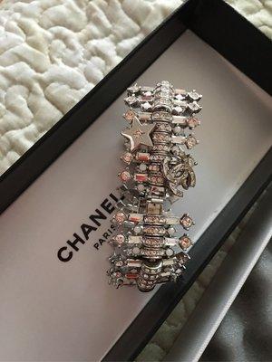 Chanel 限量發售水鑽星星手環 加緞帶成短項鍊 項圈 禮物 bracelet choker