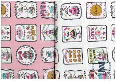 ✿小布物曲✿生日派對系列2 100%純棉印花布 窄幅110CM 韓國進口布料質感優 共2色 單價